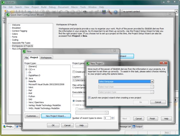 <strong>Screenshot of SlickEdit for Windows and Solaris SPARC</strong><br /><br />