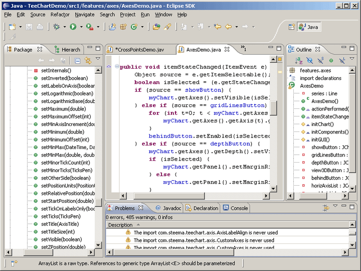 <strong>TeeChart Version for Eclipse</strong>: TeeChart for Java V2 includes a TeeChart Version for Eclipse<br /><br />