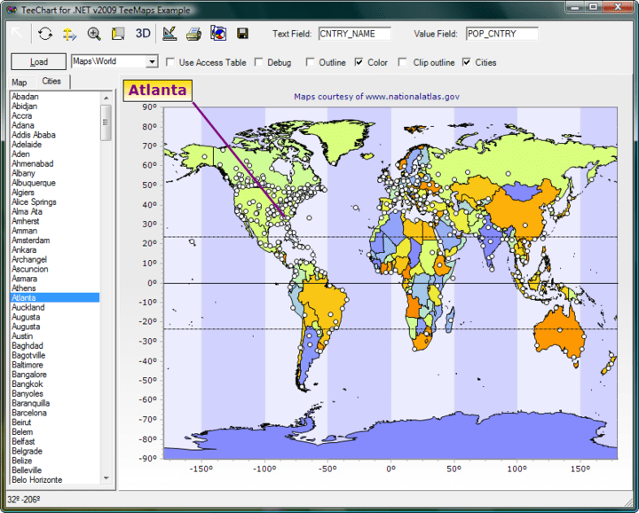 <strong>GIS Mapping</strong>: TeeChart includes Mapping with support for open standard map formats<br /><br />