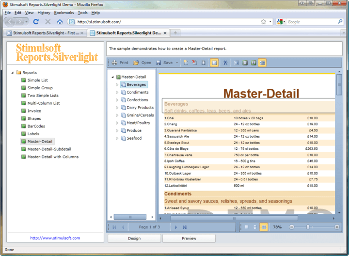 <strong>Master-Detail</strong>: You can easily create Master-Detail style reports.<br /><br />
