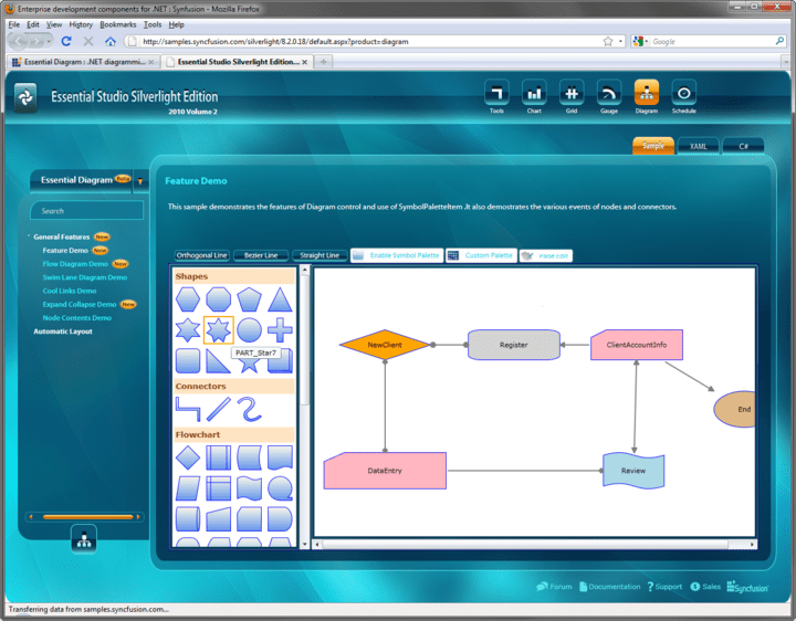 <strong>Silverlight Diagrams</strong>: You can create complex flow diagramming applications using Syncfusion Essential Diagram for Silverlight.