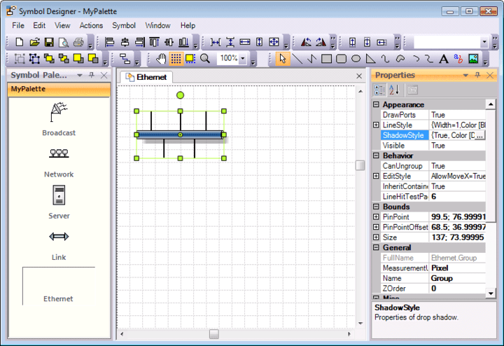<strong>Screenshot of Syncfusion Essential Diagram for Windows Forms</strong><br /><br />