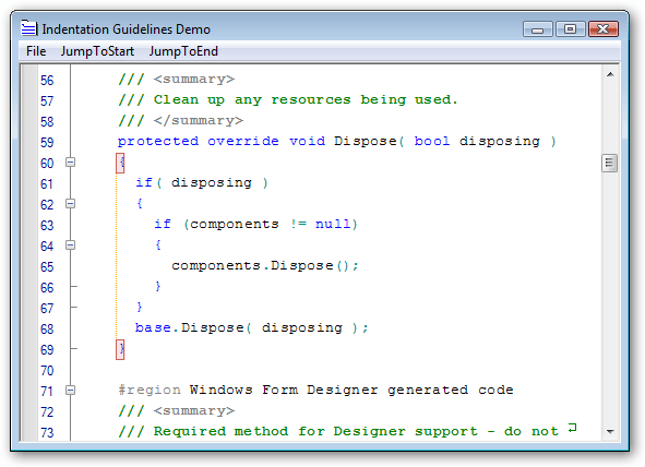 <strong>Brackets and Indentation</strong>: Extend Visual Studio like editing functionality to your applications.<br /><br />