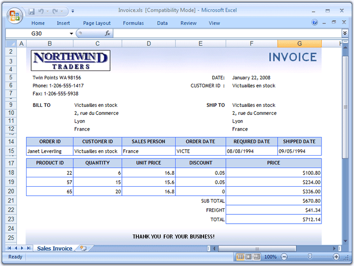 <strong>Invoices</strong>: Dynamically create richly formatted invoice documents with Excel formulas.<br /><br />