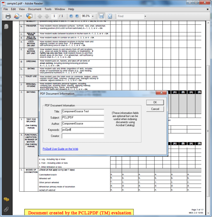<strong>Fully text searchable documents</strong>: You can use Adobe Acrobat from Windows, Mac and Unix to view your print files, print to local printers (including non-PCL) and search for text. Pcl2pdf produces PDF documents that are fully text searchable word for word. Adobe® Acrobat® uses PostScript and TrueType fonts for display giving superb font rendering quality.<br /><br />