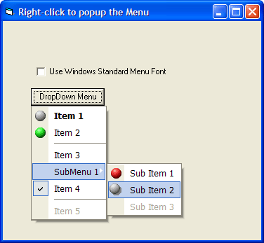 <strong>Dynamic PopupMenus</strong>: Displays a pop-up menu with the SubItems on a SmartItem object.<br /><br />
