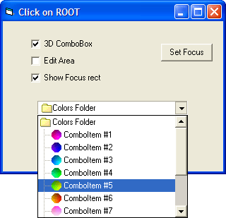 <strong>ImageCombos</strong>: Combo SmartItems include ComboFlat, a ComboBox with a flat border. ComboFlat displays a sunken border when the mouse is hovered over the SmartItem, or when the edit has the focus.<br /><br />